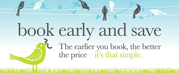 2. Book early & Save more